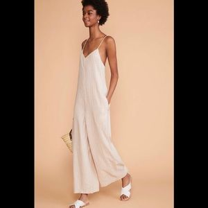 NWOT Lou & Grey Striped Strappy Linen Jumpsuit XL